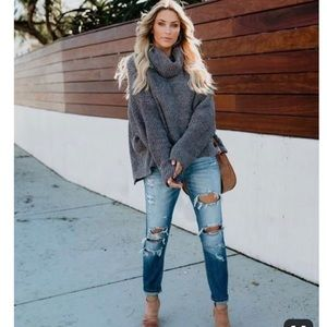 Gray Cowl Neck Sweater {Express}
